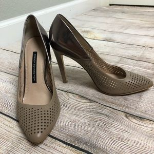 French Connection Maya 2 Perforated Pumps Sz 8